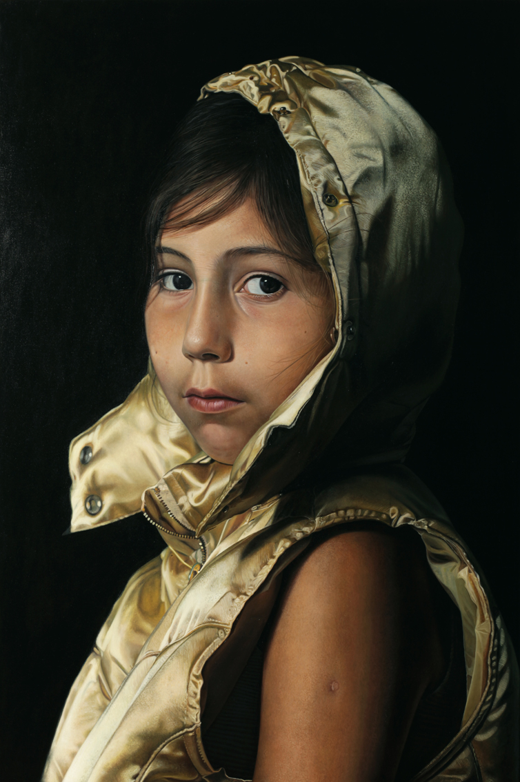 """Girl with golden jacket"" 